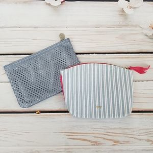 Bundle of 2 blue ipsy cosmetic bags